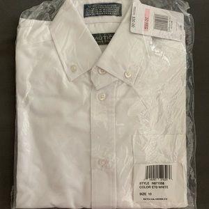 Boys Nautica white dress shirt